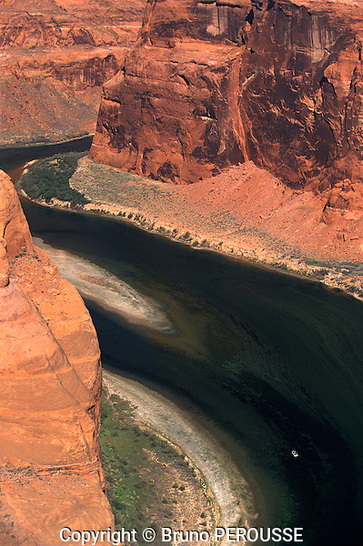 Amérique du Nord, Etats Unis, ouest, état de l'Arizona, Page, Horseshoe Bend, rivière Colorado//North America, United States of America, west, Arizona State, Page, Horseshoe Bend, Colorado river
