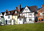 Historic buildings on the green Marlborough, Wiltshire, England, UK