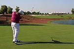 Francesco Molinari tees off on the 18th tee during Day 2 of the Dubai World Championship, Earth Course, Jumeirah Golf Estates, Dubai, 26th November 2010..(Picture Eoin Clarke/www.golffile.ie)