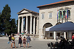 Croatia, Istria, Pula, Temple of Augustus, forum, Roman ruins, architecture, Istrian coast, Adriatic Sea, Europe,