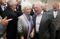 22/9/2010. Cathal O'Shannon - A Life in Television.  Fionnula Flanagan and Niall Tobin are pictured at the Conrad Hotel Dublin for the IFTA Tribute event Cathal O'Shannon- A life in Television. Picture James Horan/Collins Photos