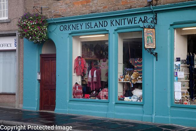 Orkney Island Knitwear Shop, Kirkwall, Orkney Islands, Scotland
