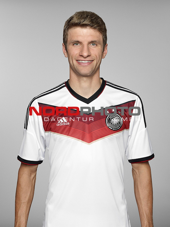ST. MARTIN IN PASSEIER, ITALY - MAY 24: In this handout image provided by German Football Association (DFB) Thomas Mueller of team Germany poses for a picture on May 24, 2014 in St. Martin in Passeier, Italy.   Foto © nph / Hangout  *** Local Caption *** Thomas Mueller