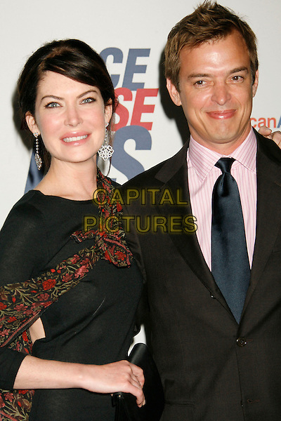 "LARA FLYNN BOYLE & DONALD RAY THOMAS.14th Annual Race to Erase MS Themed ""Dance to Erase MS"" held at the Century Plaza Hotel, Century City, California, USA,  13 April 2007..half length black dress married husband wife.CAP/ADM/RE.©Russ Elliot/AdMedia/Capital Pictures."
