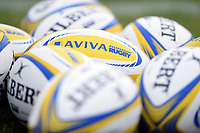 A general view of Aviva Premiership branded balls. Aviva Premiership match, between Bath Rugby and Worcester Warriors on October 7, 2017 at the Recreation Ground in Bath, England. Photo by: Patrick Khachfe / Onside Images