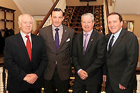 Brendan Byrne, Eno Wine, Michael Vaughan, Irish Hotels Federation President, Conor Hennigan, Malton Hotel, and James Connolly, Eno Wine, at the Irish Hotels Federation Conference 'President's Dine Around' event in   The  Malton Hotel , Killarney,  on Monday  night. Picture: MacMonagle, Killarney