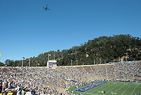 Flyover. The California Golden Bears defeated the Colorado Buffaloes 52-7 at Memorial Stadium in Berkeley, California on September 11th, 2010.