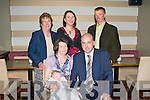 PINK BABY: Proud parents Carol and Anthony Kirby, Knockmoyle of little Grace who was Christened in Ballymac Church and celebrated afterwards with family and friends at Gally's restaurant and bar on Saturday seated l-r: Carol, Grace and Anthony Kirby. Back l-r: Bridie and Donna Kirby and Victor Blennerhassett.