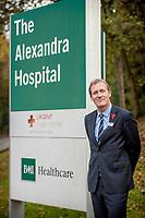 Portrait of Simon Shepherd, Chief Executive of BMI Healthcare. Cheadle, United Kingdom, 11/11/16.