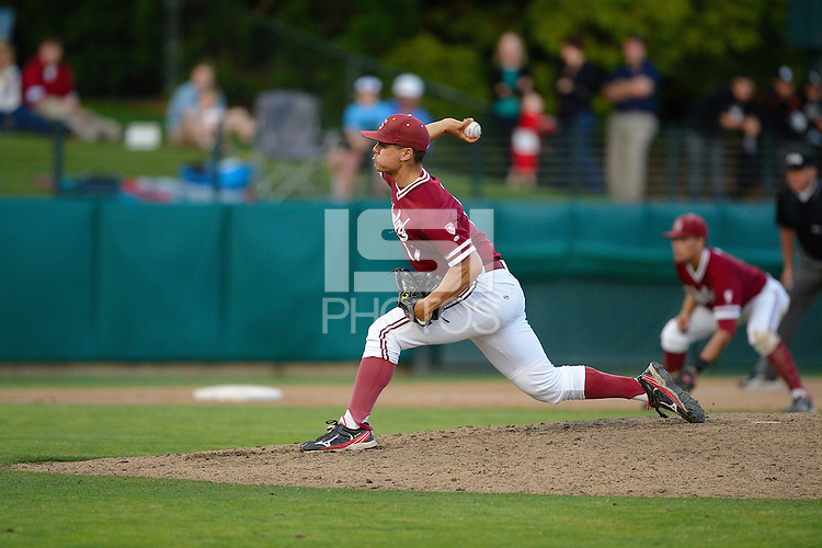 STANFORD, CA - JUNE 2, 2012: Stanford baseball competes against Pepperdine during the second day of the 2012 NCAA Stanford Regional baseball play-off at Klein Field at Sunken Diamond in Stanford, California.