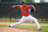 GCL Astros pitcher Diosmerky Taveras (37) during a Gulf Coast League game against the GCL Mets on August 10, 2019 at FITTEAM Ballpark of the Palm Beaches Training Complex in Palm Beach, Florida.  GCL Astros defeated the GCL Mets 8-6.  (Mike Janes/Four Seam Images)