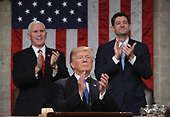WASHINGTON, DC - JANUARY 30:  U.S. Rep. Steve Scalise (R-LA) points during the State of the Union address in the chamber of the U.S. House of Representatives January 30, 2018 in Washington, DC. This is the first State of the Union address given by U.S. President Donald Trump and his second joint-session address to Congress.  <br /> Credit: Win McNamee / Pool via CNP