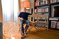 Roma, 15 marzo, 2010. Il regista Italo Turco Ferzan Ozpetek nella sua casa romana.