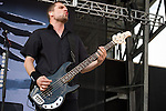 Anders Kjølholm of Volbeat performs during the 2013 Rock On The Range festival at Columbus Crew Stadium in Columbus, Ohio.