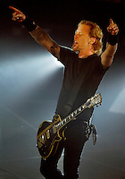 James Hetfield of Metallica performs at the Forum in Inglewood, CA