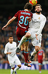 Real Madrid´s Nacho and Real Sociedad´s Elustondo during La Liga match between Real Madrid and Real Sociedad at Santiago Bernabeu stadium in Madrid, Spain. December 30, 2015. (ALTERPHOTOS/Victor Blanco)