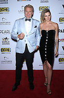 03 July 2019 - Las Vegas, NV - Dolph Lundgren, Jenny Sandersson. 11th Annual Fighters Only World MMA Awards Arrivals at Palms Casino Resort. Photo Credit: MJT/AdMedia