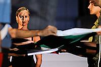 13th Fina World Championships From 17th to 2nd August 2009.18/7/2009.Federica Pellegrini consegna la bandiera.Foto Roma2009.com/InsideFoto/SeaSee