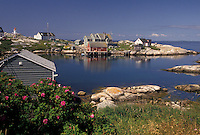 fishing village, Peggy's Cove, fishing boats, Nova Scotia, NS, Canada, Atlantic Ocean, Scenic view of the fishing village of Peggy's Cove in Nova Scotia.