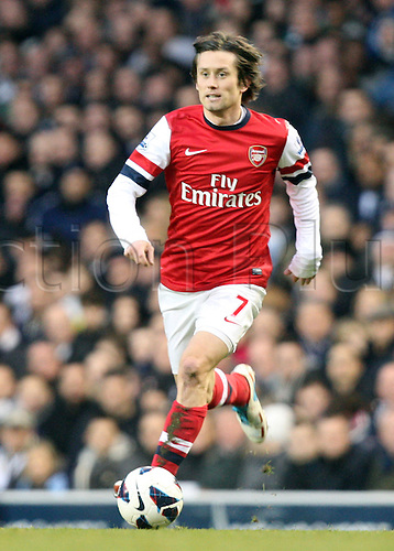 03.03.2013. London, England. Tomas Rosicky of Arsenal during  the Premier League game between Tottenham Hotspur and Arsenal from White Hart Lane