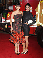 WESTWOOD, CA - OCTOBER 08: Actresses Nina Dobrev (L) and Jessica Szohr arrive at the Premiere Of Columbia Pictures' 'Only The Brave' at Regency Village Theatre on October 8, 2017 in Westwood, California.<br /> CAP/ROT/TM<br /> &copy;TM/ROT/Capital Pictures