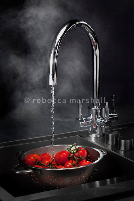 Triflow Quadro tap on display at Boffi Chelsea Showroom, Chelsea, London, 23 October 2012