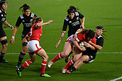 9th June 2017, Westpac Stadium, Wellington, New Zealand; International Womens Rugby; New Zealand versus Canada;  New Zealands Aleisha Nelsontackles Canada's DaLeaka Menin during the International Women's Series