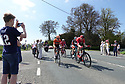05.05.18. Scruton, Northallerton, North Yorkshire. The leaders of the Peloton pass by Scruton Lane Ends, on the way to Northallerton, during Le Tour de Yorkshire, passing cheering villagers. © Jane Hobson