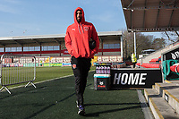 Fleetwood Town players arrive ahead of the Sky Bet League 1 match between Fleetwood Town and MK Dons at Highbury Stadium, Fleetwood, England on 24 February 2018. Photo by David Horn / PRiME Media Images