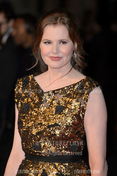 Geena Davis at the BFI London Film Festival premiere of &quot;Suffragette&quot; at the Odeon Leicester Square, London.<br /> October 7, 2015  London, UK<br /> Picture: Dave Norton / Featureflash