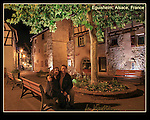 France, Alsace.  <br /> I was determined to use my tripod after carrying it all day. Now I debate whether to even pack it. So far the tripod is winning, just barely. <br /> John and Beth in Eguisheim, Alsace, France.