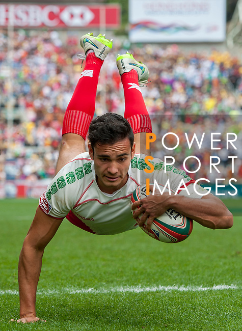 Brazil vs Mexico during the HSBC Sevens Wold Series Qualifier match as part of the Cathay Pacific / HSBC Hong Kong Sevens at the Hong Kong Stadium on 28 March 2015 in Hong Kong, China. Photo by Xaume Olleros / Power Sport Images