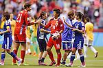 (L-R) Erina Yamane, Ayumi Kaihori, Aya Sameshima (JPN), JUNE 23, 2015 - Football / Soccer : <br /> FIFA Women's World Cup Canada 2015 round 16 match Japan 2-1 Netherlands at BC Place, Vancouver, Canada. (Photo by Yusuke Nakanishi/AFLO SPORT)