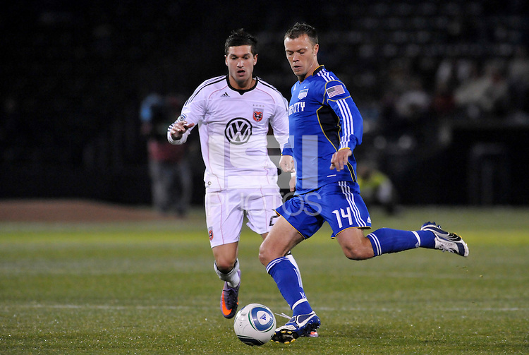 Jack Jewsbury...Kansas City Wizards defeated D.C Utd 4-0 in their home opener at Community America Ballpark, Kansas City, Kansas.