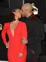 LOS ANGELES, CA - FEBRUARY 10: Alicia Keys and Swizz Beatz at the 61st Annual Grammy Awards at the Staples Center in Los Angeles, California on February 10, 2019. <br /> CAP/MPIFS<br /> &copy;MPIFS/Capital Pictures