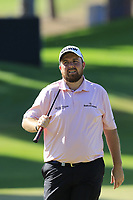 Shane Lowry (IRL) misses his birdie putt during Saturday's Round 3 of the 2018 Turkish Airlines Open hosted by Regnum Carya Golf &amp; Spa Resort, Antalya, Turkey. 3rd November 2018.<br /> Picture: Eoin Clarke | Golffile<br /> <br /> <br /> All photos usage must carry mandatory copyright credit (&copy; Golffile | Eoin Clarke)