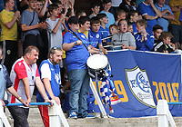 Queen of the South fans in the SPFL Betfred League Cup group match between Queen of the South and Motherwell at Palmerston Park, Dumfries on 13.7.19.