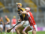 Gary Brennan of Ballyea in action against Cian O Callaghan of Cuala during the All-Ireland Club Hurling Final at Croke Park. Photograph by John Kelly.