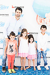 """Ruben de la Red with his sons attends to the morning premiere of the film """"Buscando a Dory"""" at Cines Kinepolis in Madrid. June 19. 2016. (ALTERPHOTOS/Borja B.Hojas)"""