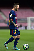 1st October 2017, Camp Nou, Barcelona, Spain; La Liga football, Barcelona versus Las Palmas; Leo Messi of FC Barcelona controls the ball