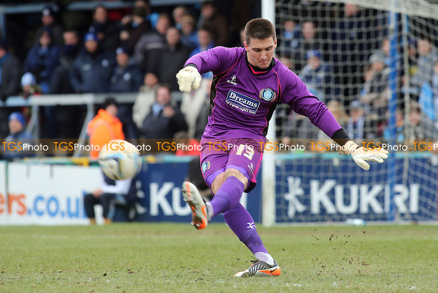 Wycombe goalkeeper Matt Ingram made his professional debut - Wycombe Wanderers vs Accrington Stanley - NPower League Two Football at Adams Park, High Wycombe - 29/03/13 - MANDATORY CREDIT: Paul Dennis/TGSPHOTO - Self billing applies where appropriate - 0845 094 6026 - contact@tgsphoto.co.uk - NO UNPAID USE.