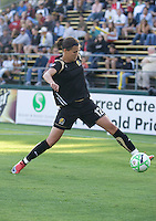 Christine Sinclair keeps the ball in play. FC Gold Pride tied the Chicago Red Stars 1-1 at Buck Shaw Stadium in Santa Clara, California on June 7th, 2009.