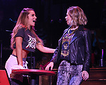 """Katie Webber and Kirsten Scott during the tech rehearsal for """"Rock of Ages"""" 10th Anniversary Production on June 13, 2019 at the New World Stages in New York City."""