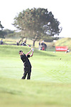 Day one of the Irish PGA championship at Seapoint Golf Club, Enda McLoughlin from Wicklow on the 1st tee...Picture Jenny Matthews/Newsfile.ie
