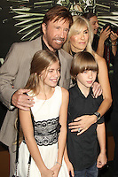 Chuck Norris and family at Lionsgate Films' 'The Expendables 2' premiere on August 15, 2012 in Hollywood, California. &copy;&nbsp;mpi28/MediaPunch Inc. /NortePhoto.com<br />