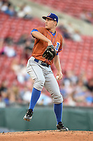 Durham Bulls starting pitcher Mike Montgomery (22) delivers a pitch during a game against the Buffalo Bisons on July 10, 2014 at Coca-Cola Field in Buffalo, New  York.  Durham defeated Buffalo 3-2.  (Mike Janes/Four Seam Images)