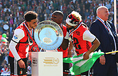 May 14th 2017, Rotterdam, Netherlands;  Players of Feyenoord Rotterdam watch the trophy before the awarding ceremony of Dutch Eredivisie match in Rotterdam, the Netherlands, May 14, 2017.   This was Kuyt last game for his club before retiring from the game.