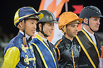 Jockey and riders walk the course before the Hong Kong Jockey Club Race of the Riders, part of the Longines Masters of Hong Kong on 10 February 2017 at the Asia World Expo in Hong Kong, China. Photo by Marcio Rodrigo Machado / Power Sport Images