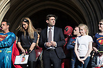 "© Joel Goodman - 07973 332324 . 05/05/2017 . Manchester , UK . ANDY BURNHAM at the "" Superheroes "" children's charity event at Manchester Town Hall following his victory in the Metro Mayor election in Greater Manchester . Photo credit : Joel Goodman"