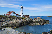 Perhaps the most photographed lighthouse in New England, Portland Head Lighthouse sits on Cape Elizabeth near Portland, Maine.